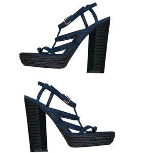Yves Saint Laurent Gypsy Jute Platform Heels
